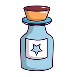 bottle of magic icon cartoon style vector image vector image