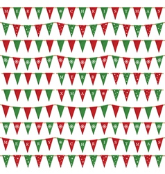 christmas bunting pack vector image vector image
