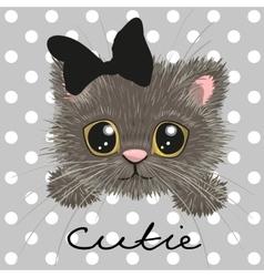 Cute british kitten vector