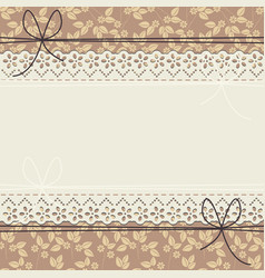 elegant lace frame with flowers and leaves vector image vector image