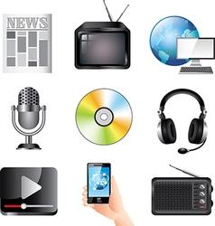 icons massmedia vector image
