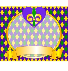 mardi gras background design with place for text vector image vector image
