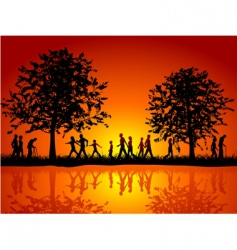 nature silhouette vector image vector image