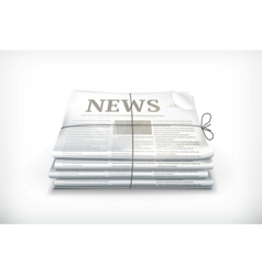Stack of newspapers vector image vector image