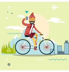Travel Lifestyle Concept of Planning a Summer vector image vector image