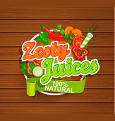 zesty juices symbol vector image