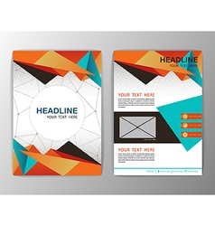 Abstract Orange Triangle design Brochure Flyer vector image