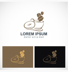 coffee cup drink logo vector image