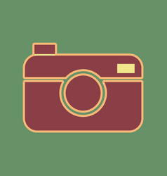 digital photo camera sign cordovan icon vector image vector image