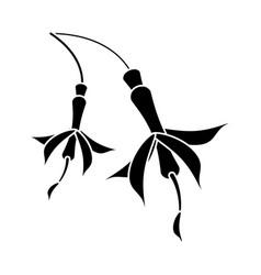 Flower petal natural pictogram vector