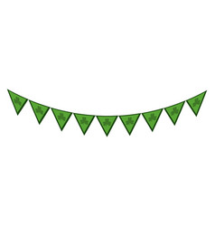 green party flag celebration vector image