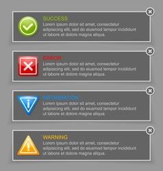 Notification banners vector image