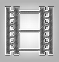 reel of film sign pencil sketch imitation vector image
