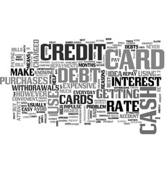 when not to use a credit card text word cloud vector image vector image