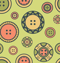 buttons on green vector image vector image