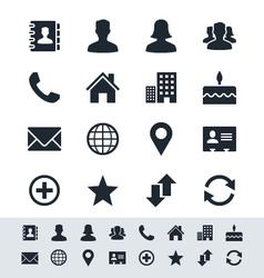 Contact icon set simplicity theme vector