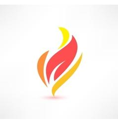 Fire icon The energy concept Logo design vector image