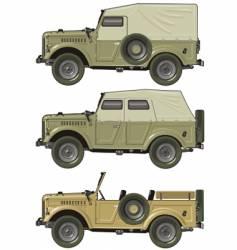 retro jeep set vector image vector image