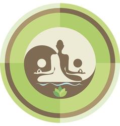 yoga and zen background vector image vector image