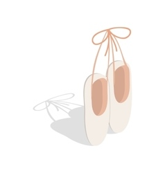 Ballet pointe shoes icon isometric 3d style vector image