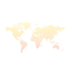 dotted world map isolated on white vector image vector image