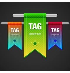 Flag Tag vector image