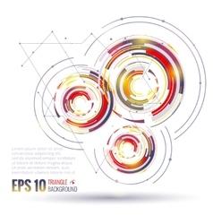 Geometric circle elements scientific future vector