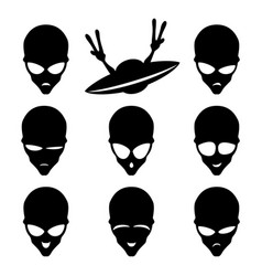 set of space aliens vector image vector image