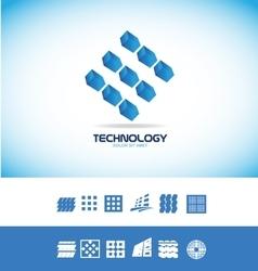 Technology microchip logo vector image vector image