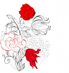 template for greeting card vector image vector image