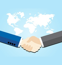 Two business men shaking hands vector image vector image