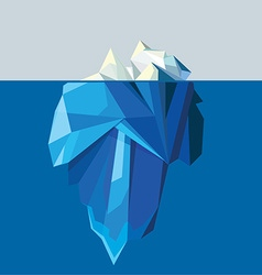 3d low polygon iceberg vector image