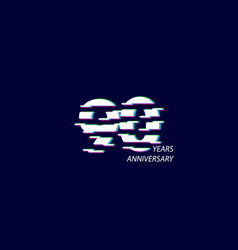 90 years anniversary celebration number template vector