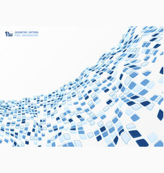 abstract blue tone color square pattern vector image