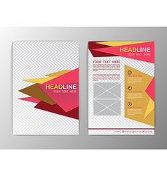 Abstract pink and yellow Triangle design Brochure vector image