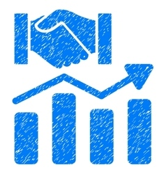 Acquisition Hands Graph Trend Grainy Texture Icon vector