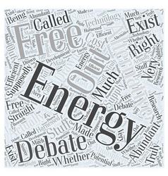 An Energy Alternative Free Energy Word Cloud vector