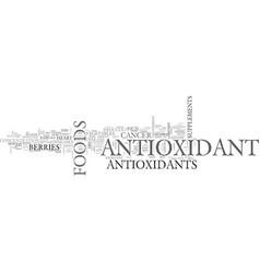 Antioxidant food text word cloud concept vector