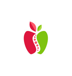 apple fresh fruit logo symbol icon design vector image