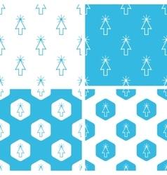 Arrow cursor patterns set vector image