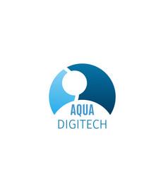 badge for digital technologies vector image
