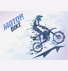 bike with triangle splints motocross stylized vector image