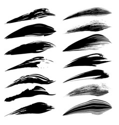 black art brush set vector image
