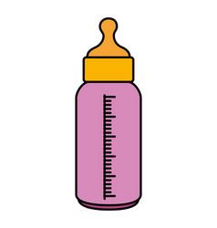 bottle milk baisolated icon vector image