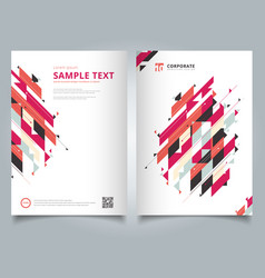 brochure template geometric modern diagonal and vector image