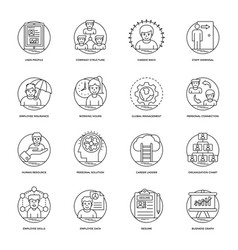 Business and data management line icons se vector