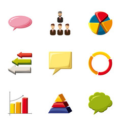 business infographic icons set cartoon style vector image