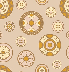 Buttons pattern vector