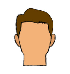 Cartoon face man default people character vector