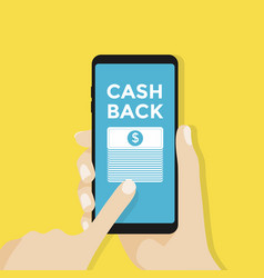 Cash back or money refund concept vector